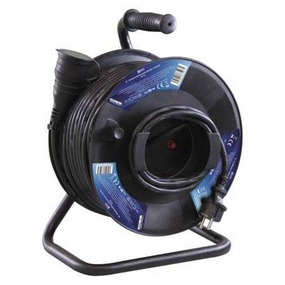 Prodlužovací přívod na bubnu - spojka, 1zás. 50m, gumový  PR08150