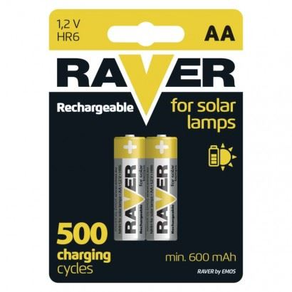 Raver baterie nabíjecí HR06 (AA), 2 ks v blistru   B7426