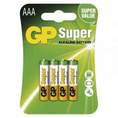 Baterie GP Super Alkaline R03 (AAA, mikrotužka) bl