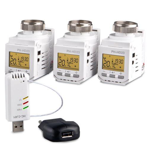 ELEKTROBOCK Home Control set s hlavicemi HC-PH-HD23 SET3