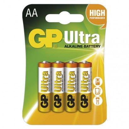 Baterie GP Ultra Alkaline R6 (AA, tužka) blistr